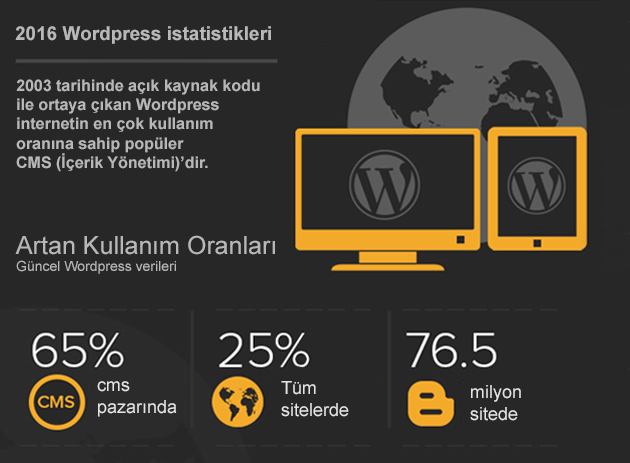 2016 WordPress İstatistikleri